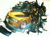 Graffiti artist /Airbrush artist for kids bedrooms ,birthdays and workshops