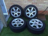 "Genuine Range Rover Evoque 2012 19"" style 4 Sliver Alloy Wheels"