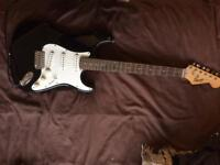 Fender strat electric guitar + amp perfect for beginners