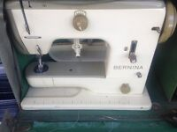 Vintage Bernina Sewing machine 707, case, instruction manual and many accesories £130