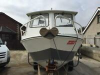 Aluminum 18ft seastrike fishing boat