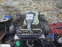 go kart evo go kart chassis adult size no engine spares or repair project