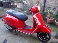 Piaggio Vespa GTS300 SUPER, RED, 2012, ONLY 13500MILES,2 OWNERS, MOT,VGC, ANY INSPECTION, DELIVERY