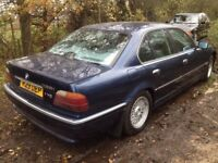 BREAKING BMW E38 735I AUTO. V8, BLUE for spare parts