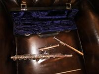 Flute with hard carrying case for sale