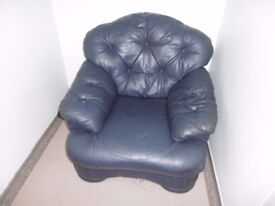 Large dark blue chair