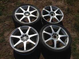 BK racing 17x7 multi fit 4x100/108 VW, ford , Audi , Peugeot