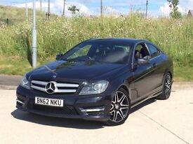 2012 Mercedes-Benz C Class 2.1 C220 CDI BlueEFFICIENCY AMG Sport Plus 7G-Tronic 2dr coupe**SPORT +