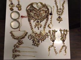 Asian bride wedding jewellery complete set *stunning*