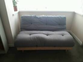 Double futon with reversible mattress