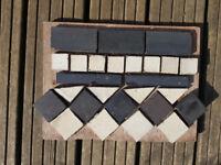 Reclaimed Black and White Victorian Floor Tiles
