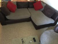 Excellent condition corner sofa and swivel chair