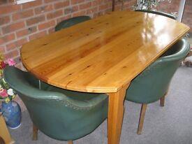 Handmade pine dining table