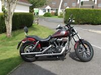Harley Davidson Street Bob Special 2014 stage 1 tune, sissy bar and comfort dual seat.