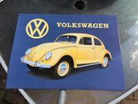 Metal vw beetle sign man cave