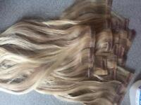 "Foxy locks hair extensions latte blonde 14"" seamless"