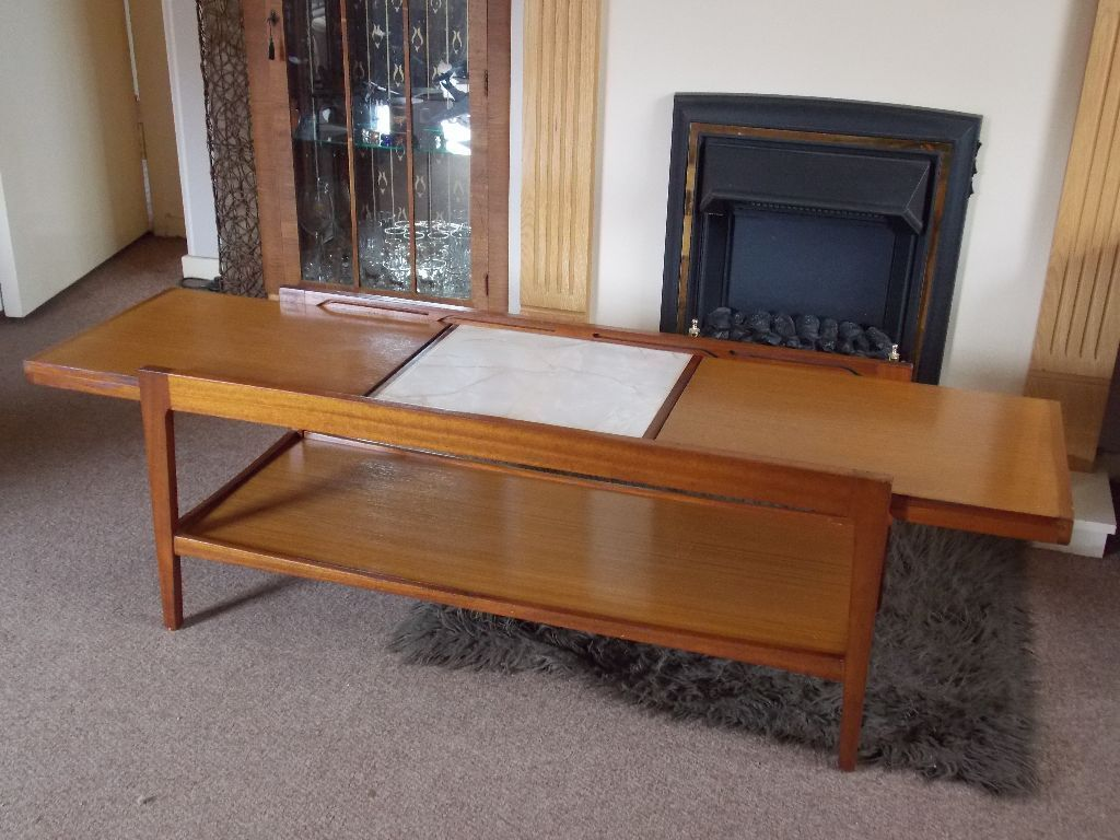 VINTAGE RETRO TEAK G PLAN EXTENDING COFFEE TABLE In Hull East Yorkshire