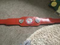 English title boxing championship belt