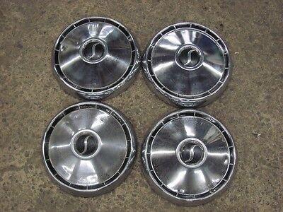 "Original 1964 64 1965 65 Studebaker 10"" Dog Dish Hubcaps Hub Caps Rat Rod"