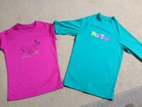 Roxy UVtech beach tops, girls, age 10 & age 12 approx
