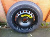 Ford focus/ Mondeo 5 stud space saver spare wheel as new with Goodyear tyre t125/85r16