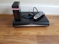 Sky +HD Box and wireless router.