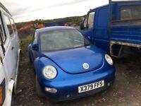 Volkswagen Beetle petrol spare parts bumper bonnet wing light radiator wing door