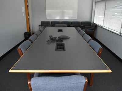 12 Foot Conference Room Table And Chairs Desk Credenza Extras Over 50 Off