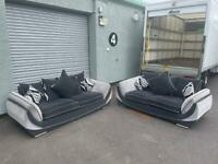 (Purchased) Beautiful grey dfs sofa delivery 🚚 sofa suite couch furniture