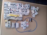 60 mcb circuit breakers, 2rcbos, 2 100a fuses and carriers , used.