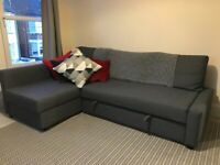 Sofabed with storage. Reduced price!