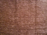 Lined curtain and tie back – brown