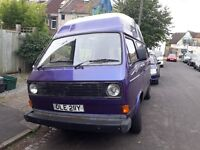VW T25 Transporter camper van. VERY LOW MILEAGE and 12 Months MOT! Offers considered.