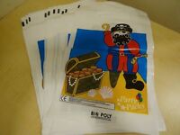 12 X PIRATE PARTY BAGS - GOOD QUALITY - NEW