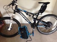 Electric mountain bike. Full suspension boardman EBIKE fs team 27.5 motor 500w with battery BARGAIN
