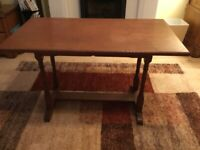 Mahogany side or coffee table - handmade. Good to upcycle?