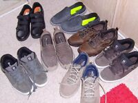 7 pairs of mens shoes size 12 and 13