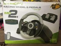 MicroCON Xbox 360 racing wheel & pedal
