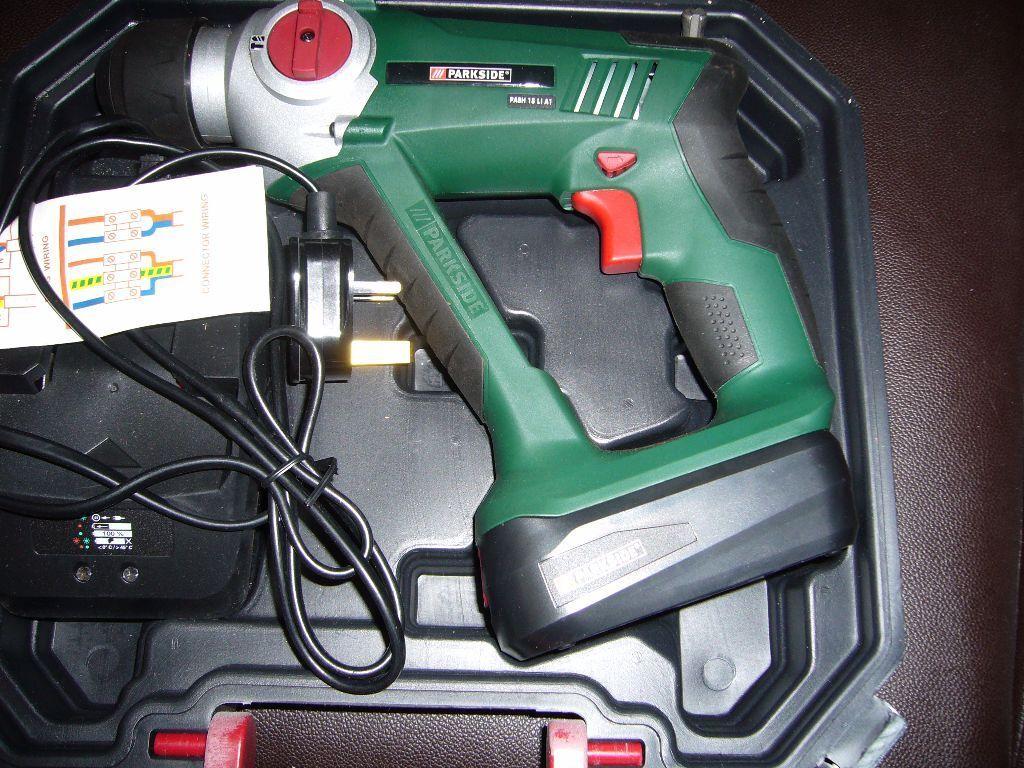 Parkside 2 Speed 18v Lithium Cordless Sds Hammer Drill 163 55