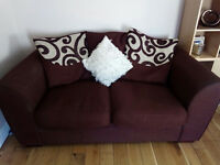 Comfy brown sofas for sale (3 and a 2 seater)