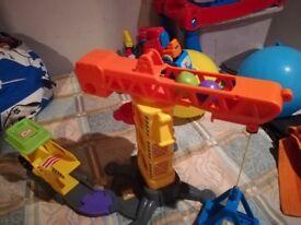 Toy crane toot toot drivers