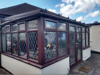 Conservatory doors and frames for sale. Mahogany finish Upvc