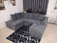 🚚🚛**BEST SELLING BRAND🚚🚛Brand New JUMBO CORD Fabric CORNER OR 3 and 2 or Corner Sofa