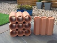 Terracotta stacking wine rack - fits up to 12 bottles