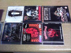 METALLICA / IRON MAIDEN / SLAYER / MOTORHEAD CD'S PLUS LED ZEPPELIN DVD ALL IN EXCELLENT CONDITION