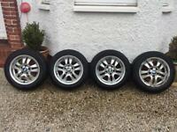Winter tyres on BMW Alloy wheels