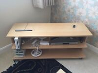 TV Stand in Beech Colour Brand New Never Used by IKEA Size 117.5cm x 38cm