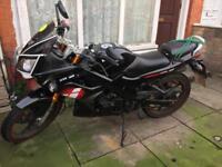 LEXMOTO XTR125 64reg motorbikes & helmet