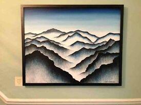 Sleepy Mountains Original Oil Painting