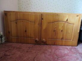 Pine 2 door storage cupboard